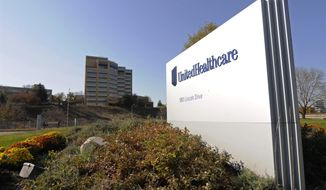 FILE - This Tuesday, Oct. 16, 2012, file photo, shows a portion of the UnitedHealth Group Inc.'s campus in Minnetonka, Minn. UnitedHealth Group reports financial results on Tuesday, Jan. 17, 2017. (AP Photo/Jim Mone, File)