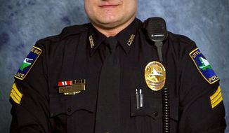 This undated photo provided by the Little Elm Police Department shows Detective Jerry Walker. Little Elm Police Chief Rodney Harrison says Walker died Tuesday, Jan. 17, 2017, at a Denton hospital hours after being shot while answering a report of an armed man outside a house in a suburban Dallas neighborhood. (City of Little Elm via AP)