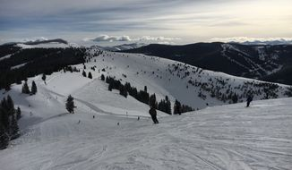 """The famous """"Back Bowls"""" at Vail Mountain ski area in Colorado.  (Eric Althoff/The Washington Times)"""