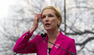 President Planned Parenthood Federation of America Cecile Richards speak to the crowd during the women's march rally, Saturday, Jan. 21, 2017, in Washington. (AP Photo/Jose Luis Magana) ** FILE **