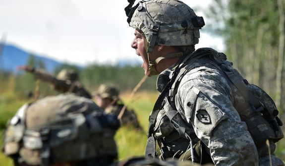"""Capable manpower appears to be the biggest hurdle to President Trump's goals for a strong military. Only 17 percent of all military-age Americans would be deemed physically """"qualified military available"""" for service, according to an assessment. (Associated Press)"""