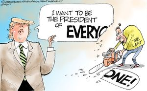 I want to be the president of everyone!