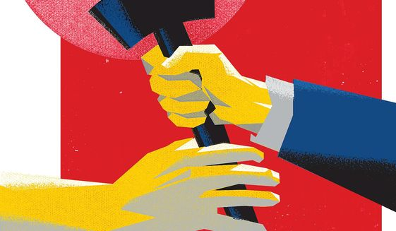 Passing the Torch Illustration by Linas Garsys/The Washington Times