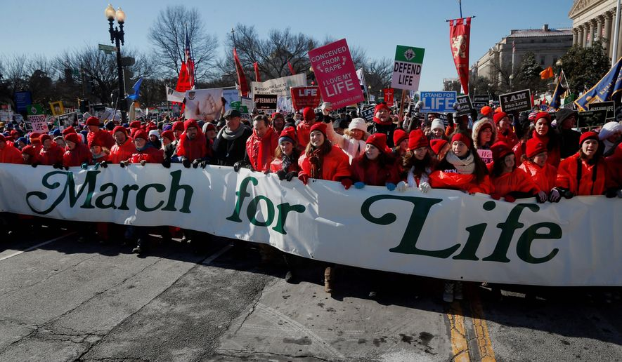 Pro-life demonstrators are lining up for the annual March for Life on Friday, yet many pro-life organizations and supporters are doubtful the media will give the march the kind of coverage that attended the Women's March on Washington over the weekend to protest the policies of newly installed President Trump. (Associated Press)