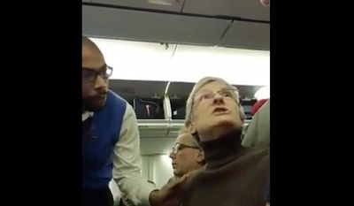 Alaska Airlines confirmed Monday that a woman was kicked off a flight from Baltimore to Seattle on Saturday after videos posted on social media showed her harassing Scott Kotesky, a pro-Donald Trump passenger. (Facebook/@Scott Koteskey)