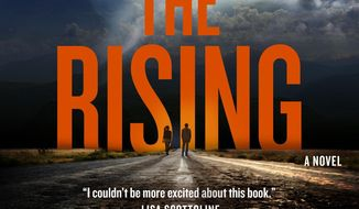 "This cover image released by Tor shows ""The Rising,"" a novel by Heather Graham and Jon Land. (Tor via AP)"