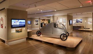 """This undated photo provided by the Cooper Hewitt, Smithsonian Design Museum, shows an Installation view of """"By the People: Designing a Better America."""" (Matt Flynn/Cooper Hewitt, Smithsonian Design Museum via AP)"""