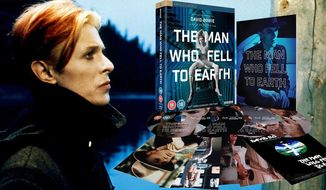 """David Bowie stars in """"The Man Who Fell to Earth: Limited Collector's Edition,"""" now available on Blu-ray from Lionsgate Home Entertainment."""