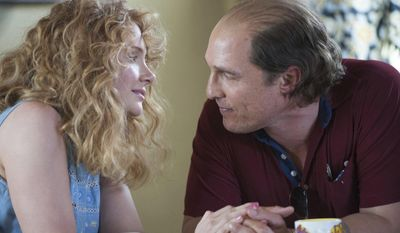 "This image released by The Weinstein Company shows Bryce Dallas Howard and Matthew McConaughey, right, in a scene from, ""Gold."" (The Weinstein Company via AP)"
