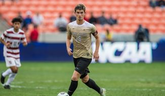 December 11, 2016: Wake Forest midfielder Ian Harkes (16) controls the ball during the 2nd overtime period of the NCAA men's soccer Championship game between the Wake Forest Demon Deacons and the Stanford Cardinal at BBVA Compass Stadium in Houston, TX. Stanford won 5-4 on a penalty kick shootout after two overtime periods ended with a 0-0 score...Trask Smith/CSM (Cal Sport Media via AP Images) **FILE**