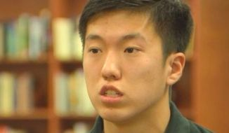 Tim Park from Fairfax, Virginia, has received acceptance letters from the United States Coast Guard Academy, the United States Naval Academy, the Air Force Academy and the United States Military Academy. (Fox 5 DC screenshot)