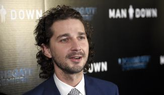 "In this Nov. 30, 2016, file photo, Shia LaBeouf arrives at the Los Angeles premiere of ""Man Down"" at ArcLight Cinemas Hollywood. LaBeouf has been arrested early Thursday morning, Jan. 26, 2017, after he allegedly got into an altercation with another man outside a New York City museum. (Photo by Chris Pizzello/Invision/AP, File)"