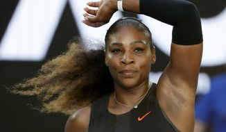 United States' Serena Williams celebrates after defeating Croatia's Mirjana Lucic-Baroni during their semifinal at the Australian Open tennis championships in Melbourne, Australia, Thursday, Jan. 26, 2017. (AP Photo/Dita Alangkara)