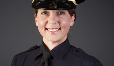 FILE - This undated file photo provided by the Tulsa Police Department shows Tulsa Police Officer Betty Jo Shelby, who fatally shot Terence Crutcher on Sept. 16, 2016. Prosecutors are accusing defense attorneys for Shelby of trying to air their case in public and the media by asking a judge to throw out the first-degree manslaughter case against the officer. A judge is expected to decide the motions at a hearing on Wednesday, Feb. 1, 2017.  (Tulsa (Okla.) Police Department via AP, File)