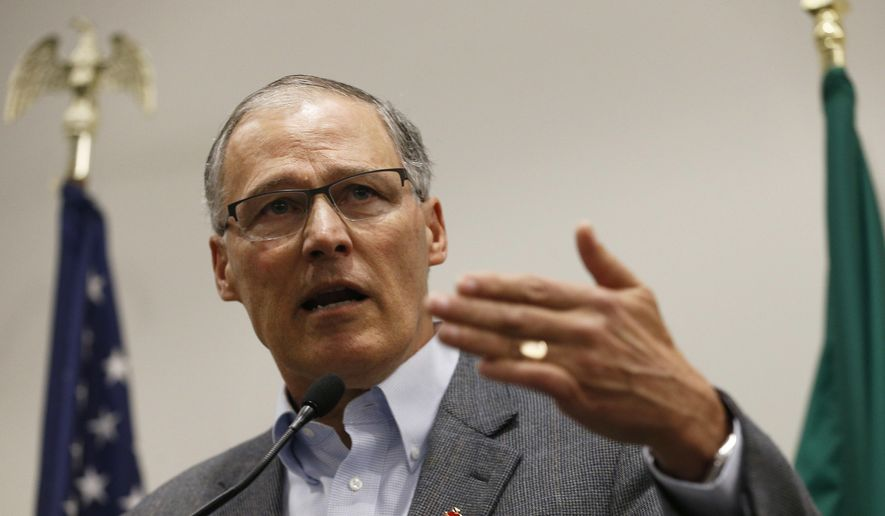 Gov Jay Inslee Speaks To The Media In The Airport Office