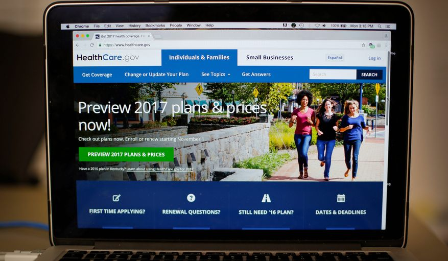 The HealthCare.gov website is still up and running, days after congressional Republicans imposed a deadline to begin their promised Obamacare repeal. (Associated Press)