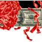 Illustration on loosening anti-laundering regulations by Alexander Hunter/The Washington Times