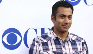 FILE - In this Sept. 10, 2013, file photo, Kal Penn arrives at CBS's 1st National TV Dinner Night at the CBS Radford Studios in Los Angeles. Penn raised more than $500,000 for Syrian refugees after launching an online fundraiser on Saturday, Jan. 28, 2017. (Photo by Matt Sayles /Invision/AP, File)