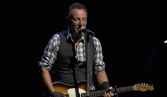 Bruce Springsteen used a break between songs Monday night to criticize President Trump's executive order restricting immigration from several predominantly Muslim nations. (YouTube/@Bruce Springsteen)