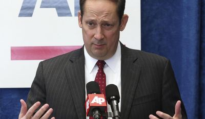 Florida senate president Joe Negron, R-Stuart, speaks about his objectives for session during a pre-legislative news conference, Tuesday, Jan. 31, 2017, in Tallahassee, Fla. (AP Photo/Steve Cannon)