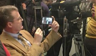 The Council on American-Islamic Relations enforced a longstanding ban against Breitbart News on Monday by ejecting reporter Neil Munro from a press conference criticizing President Trump's immigration order. (CNN)