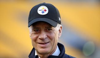 FILE - In this Oct. 1, 2015, file photo, Pittsburgh Steelers President Art Rooney II walks on the sidelines at Heinz Field before an NFL football game between the Steelers and the Baltimore Ravens in Pittsburgh. The Steelers were one win from the Super Bowl in 2016. While Rooeny sees it as a sign of progress, he's also aware there are plenty of things to address in the offseasonAP Photo/Gene Puskar, File)