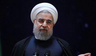 Iranian President Hassan Rouhani has lashed out at U.S. policies, but the White House made clear Wednesday that it would not tolerate Tehran's belligerence. (Associated Press)