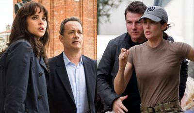 """Felicity Jones and Tom Hanks in """"Inferno,"""" Tom Cruise and Cobie Smulders in """"Jack Reacher: Never Go Back"""" now available on 4K Ultra HD."""