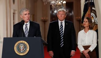 Judge Neil Gorsuch is at the center of a heated debate that began last year when Republicans refused to fill a Supreme Court vacancy. (Associated Press)