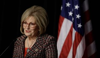 Rep. Diane Black, Tennessee Republican, helped introduce the Conscience Protection Act. The legislation would allow organizations with pro-life beliefs to take their cases straight to court if they feel they are being coerced to participate in abortions. (Associated Press)