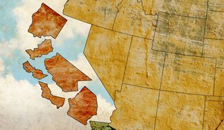The Succession of California Illustration by Greg Groesch/The Washington Times