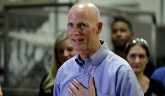 Florida Gov. Rick Scott is all but guaranteed to enter the Senate race next year with President Trump in his corner. He has been eyeing the seat of Democrat Bill Nelson. (Associated Press)