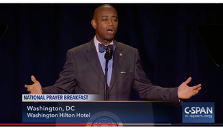 U.S. Senate Chaplain Dr. Barry Black full remarks at National Prayer Breakfast (Screen-shot from C-SPAN video embedded below)