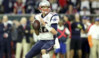 New England Patriots QB Tom Brady #12 in action against the Atlanta Falcons at Super Bowl 51 on Sunday, February 5, 2017 in Houston, TX. (AP Photo/Gregory Payan)