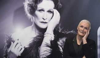 """FILE - This Jan. 25, 2017 file photo shows Glenn Close posing at a media opportunity to promote the Broadway revival of """"Sunset Boulevard"""", at the Palace Theatre in New York. Close returns as the aging silent film star Norma Desmond. The English National Opera's stripped-down revival of the Andrew Lloyd Webber musical will land with a 40-piece orchestra under the direction of Lonny Price. Close won a Tony Award in 1995 as Desmond. (Photo by Charles Sykes/Invision/AP, File)"""