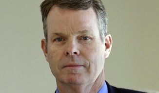 FILE - In this July 13, 2016, file photo, former Utah Attorney General John Swallow arrives at court in Salt Lake City. A pay-to-pay scandal that prosecutors said connected wealthy businessmen and powerful politicians against a backdrop of luxury jets, gold coins and a surreptitiously recorded meeting at a Krispy Kreme doughnut shop is set to come to a Utah courtroom. Jury selection begins Tuesday, Feb. 7, 2017, for Swallow who is charged with 13 counts of bribery, evidence tampering and other crimes. (AP Photo/Rick Bowmer, File)