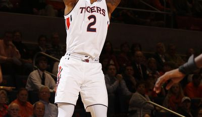 Auburn guard Bryce Brown (2) shoots against Mississippi State in the first half of their NCAA college basketball game on Tuesday, Feb. 7, 2017 in Auburn, Ala. (Todd J. Van Emst/Opelika-Auburn News via AP)