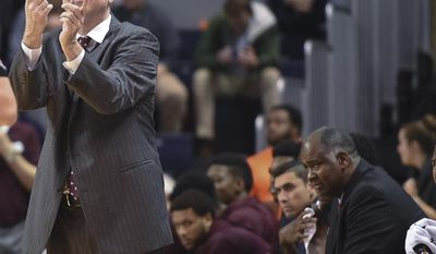Mississippi State coach Ben Howland gestures during the team's NCAA college basketball game against Auburn on Tuesday, Feb. 7, 2017, in Auburn, Ala. (Julie Bennett /AL.com via AP)