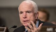 Sen. John McCain has broken with President Trump on a number of issues, but he insists he's 100 percent on board regarding military plans. (Associated Press)