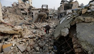 East Aleppo, Syria, was widely brought to ruin by years of war, and now with Russia and Turkey leading peace efforts, international officials say it's time to start rebuilding. (Associated Press)