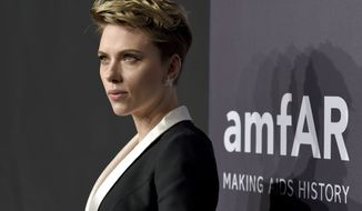 Scarlett Johansson attends amfAR's Fashion Week New York Gala at Cipriani Wall Street on Wednesday, Feb. 8, 2017, in New York. (Photo by Evan Agostini/Invision/AP) ** FILE **