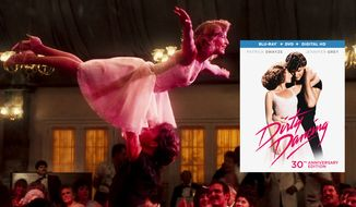 """Patrick Swayze and Jennifer Grey star in """"Dirty Dancing: 30th Anniversary Edition,"""" now available on Blu-ray from Lionsgate Home Entertainment."""