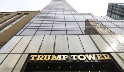 The U.S. military is looking to rent space at Trump Tower for use when President Donald Trump returns to his longtime home in New York City (AP Photo/Mark Lennihan) ** FILE **