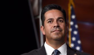 Rep. Ben Ray Lujan, New Mexico Democrat, said Republican lawmakers are going to have to answer for the Trump agenda, which has sparked protests across the country. (Associated Press)