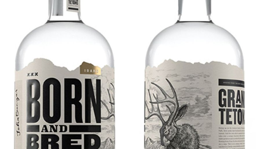 A Bottle Of Channing Tatum S Born And Bred Vodka Is
