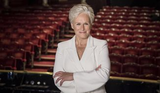 """FILE - This Nov. 2, 2015 file photo shows Glenn Close during a photo call for the musical """"Sunset Boulevard"""" in London. Close is reprising her Tony-winning role as Norma Desmond in the English National Opera's stripped-down revival of the Andrew Lloyd Webber musical. (Photo by Vianney Le Caer/Invision/AP, File)"""