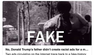 The Washington Post's Glenn Kessler shared news with readers on Friday, Feb. 10, 2017, that an op-ed he shared by Sidney Blumenthal featured a fake racist campaign video by Fred Trump. (Twitter, Glenn Kessler)