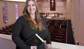 Rev. Lumintza Nichols is photographed at the First Baptist Church  in Lancaster, Pa., on Jan. 31, 2017.  After a sermon on Jan. 22, she answered questions from the congregation, and it was during that session that members first learned about her unique story and deep faith. (Dan Marschka/LNP via AP)