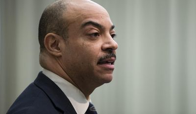 Philadelphia District Attorney Seth Williams speaks during a news conference in Philadelphia, Friday, Feb. 10, 2017. Williams  announced he won't run for a third term amid an FBI probe into $160,000 worth of gifts he initially failed to report. (AP Photo/Matt Rourke)