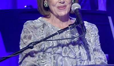 House Minority Leader Nancy Pelosi of Calif. speaks at the Clive Davis and The Recording Academy Pre-Grammy Gala at the Beverly Hilton Hotel on Saturday, Feb. 11, 2017, in Beverly Hills, Calif. (Photo by Chris Pizzello/Invision/AP)